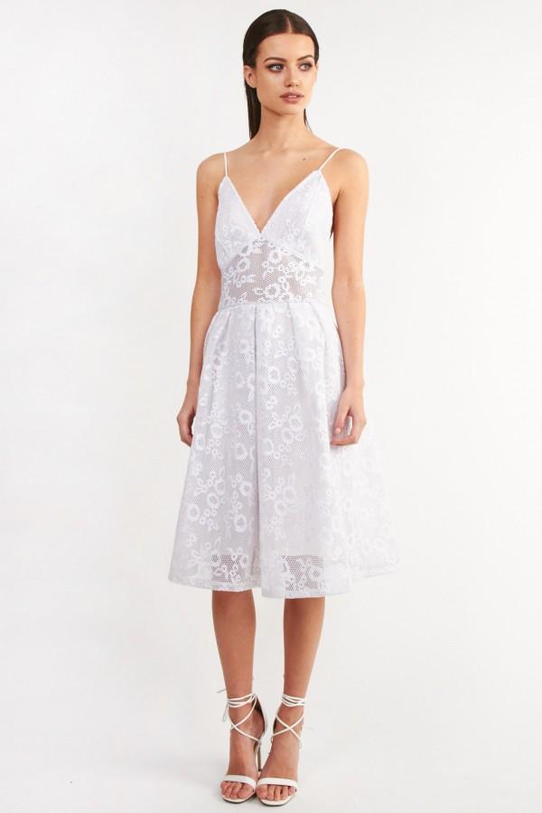 TFNC Vanda White Dress