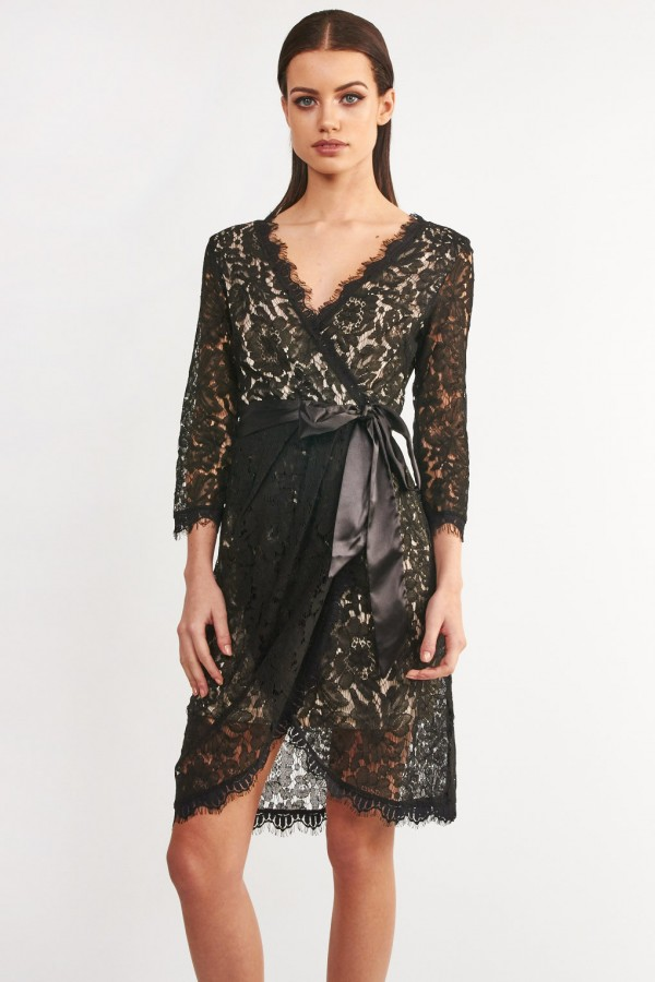 TFNC Miri Lace Black Dress