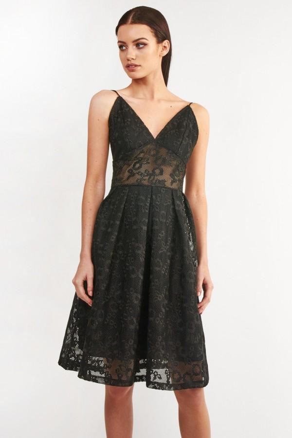 TFNC Vanda Black Dress