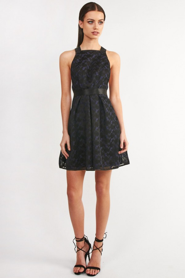 TFNC Samuelia Black Floral Dress
