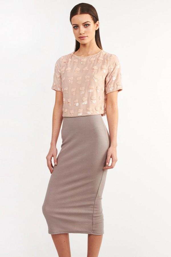 Lace & Beads Reena Pink Top