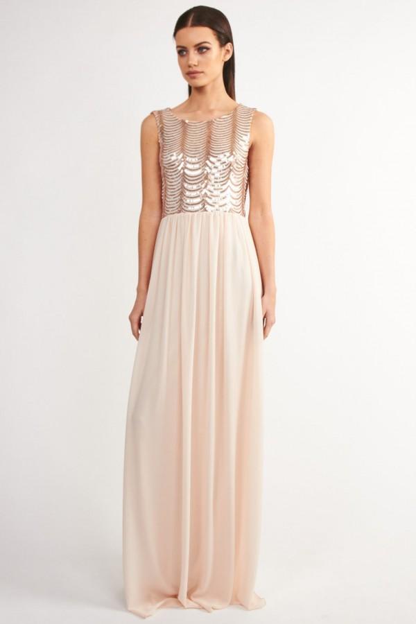 TFNC Brenna Maxi Pink Dress