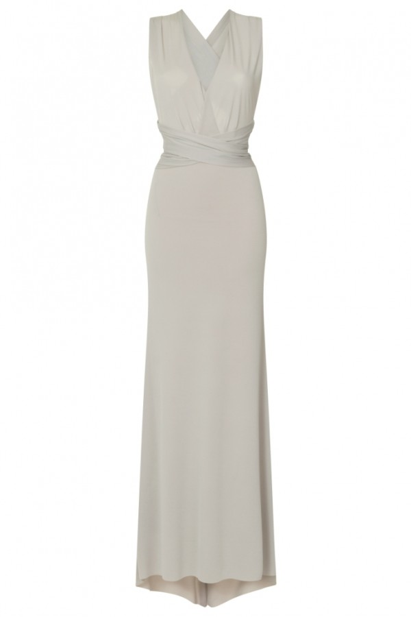 TFNC Multi Way Opal Grey Maxi Dress