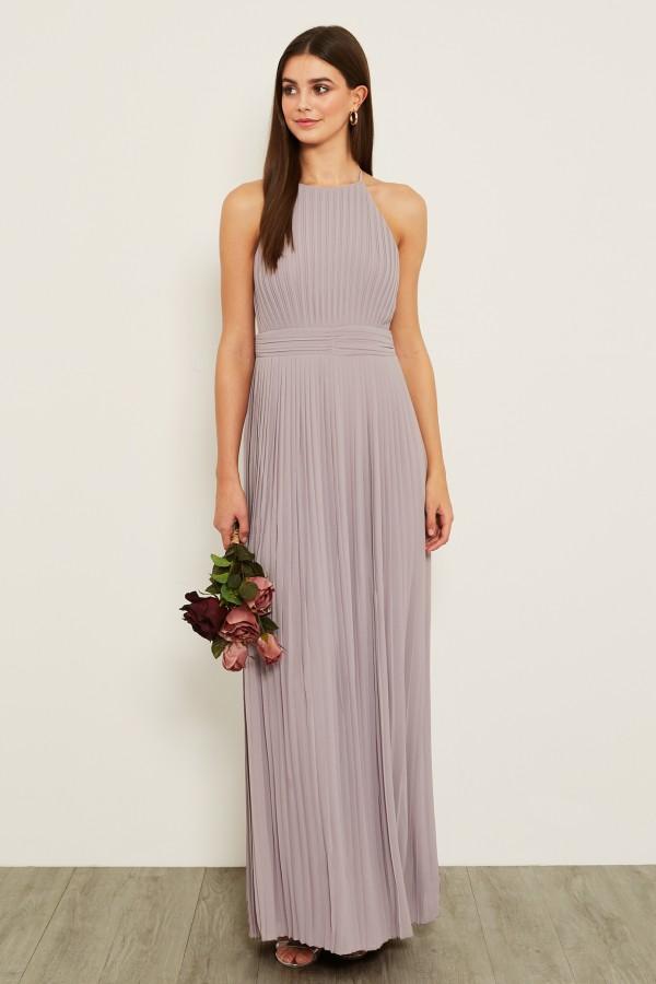 TFNC Serene Grey Maxi Dress