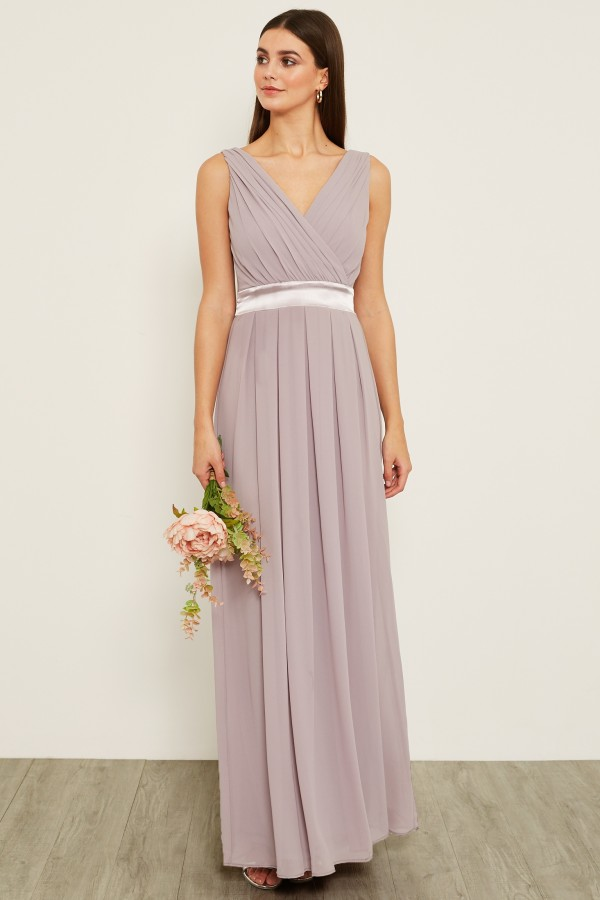 TFNC Kily Grey Lavender Fog Maxi Dress