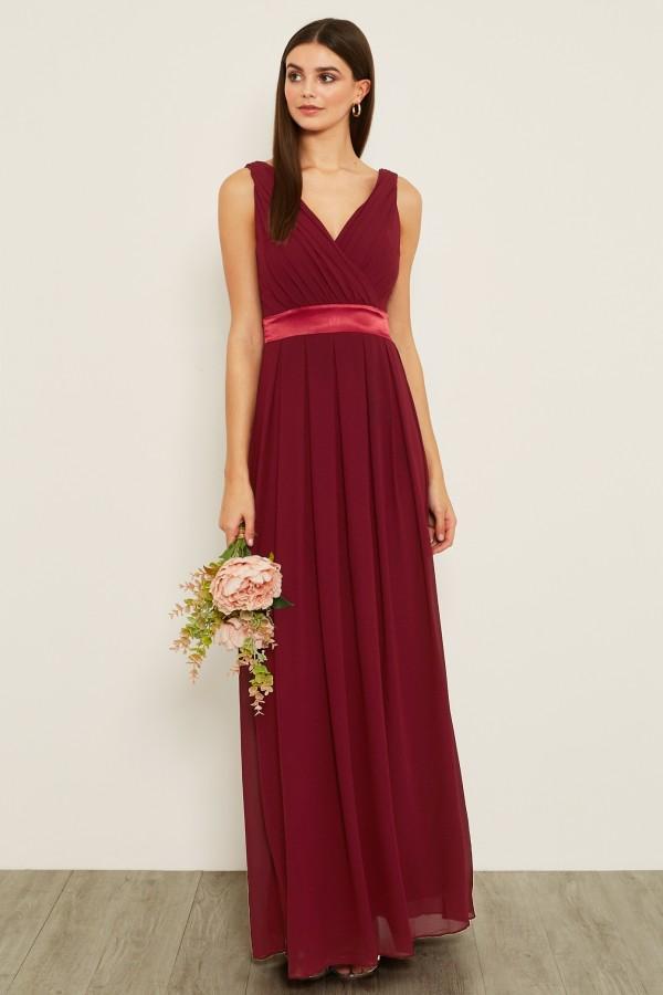 TFNC Kily Mulberry Maxi Dress