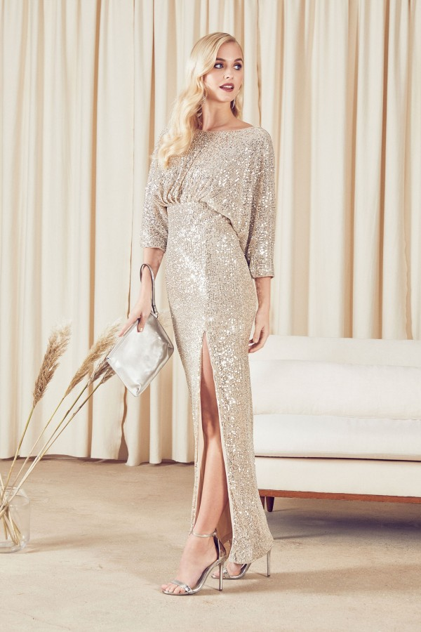 TFNC Jia Sequin Maxi Dress