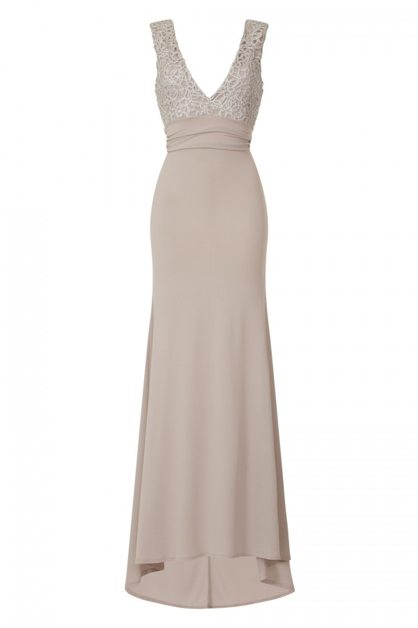 TFNC Centurion Grey Maxi Dress