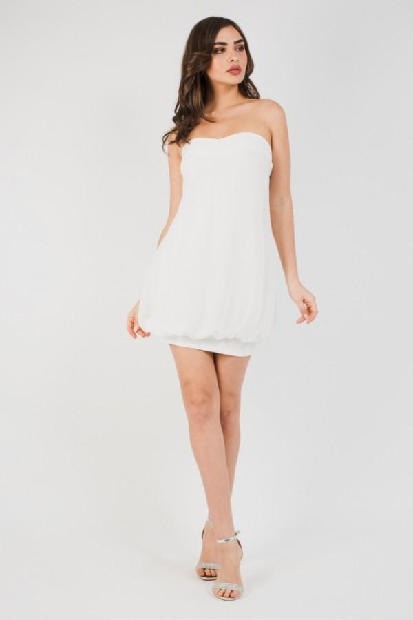 TFNC Tiya Mini White Dress