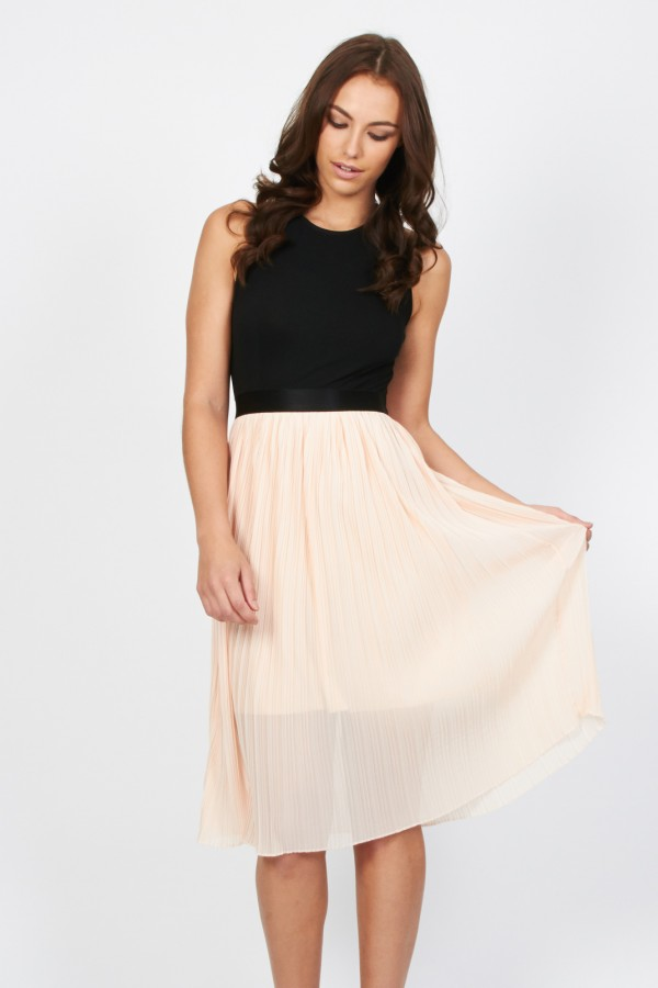 TFNC Isabora Pink Midi Dress