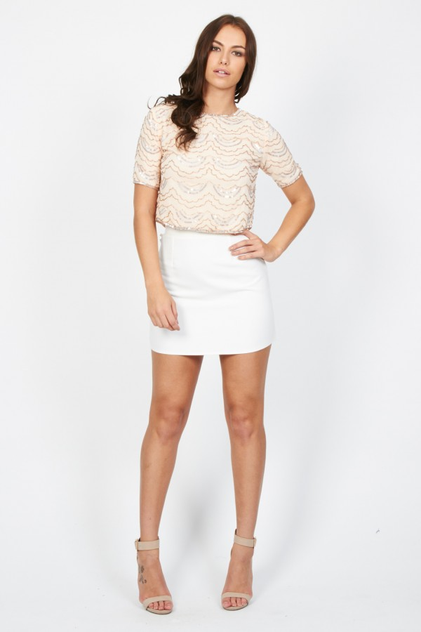 Lace & Beads Cloud Pink Top