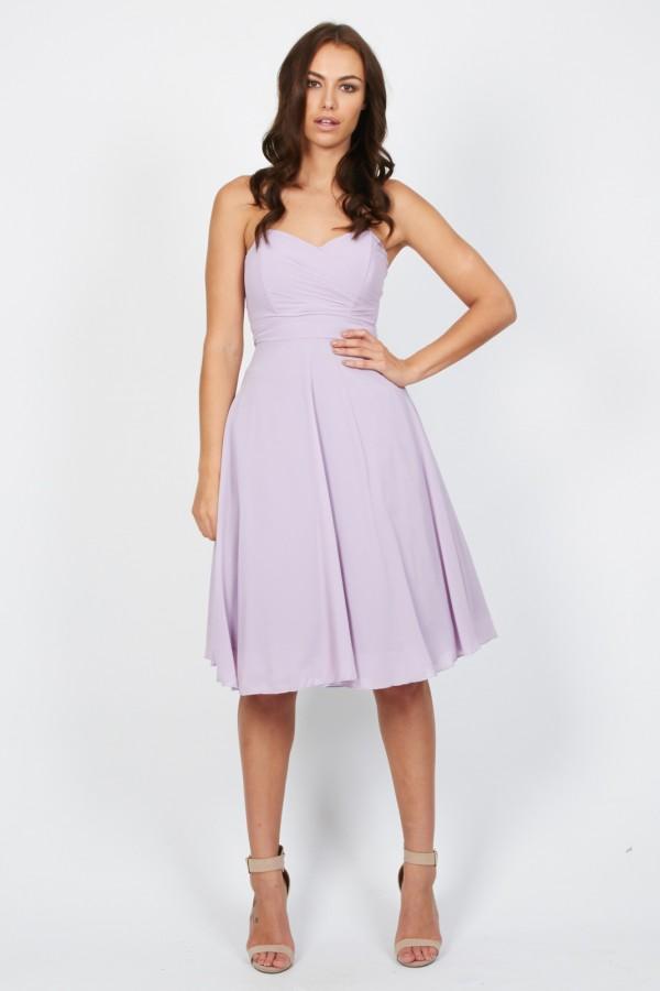 TFNC Debutante Lilac Midi Dress