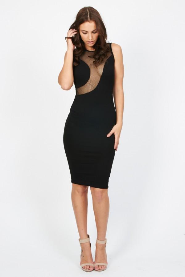 TFNC Assia Black Midi Dress