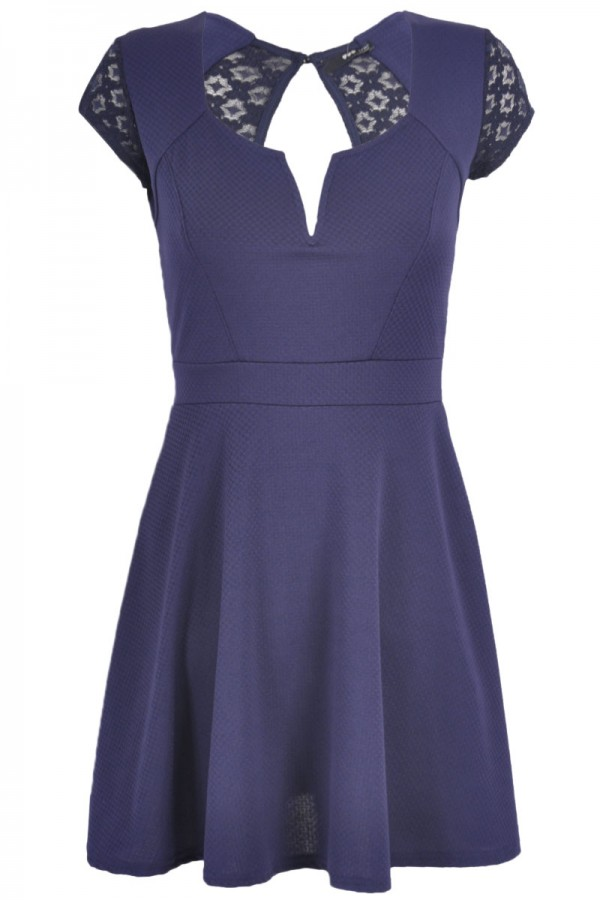 TFNC Ponnie Lace Back Fit and Flare Dress