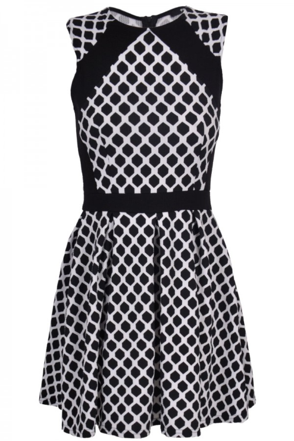 TFNC Harris Contrast Fit and Flare Dress