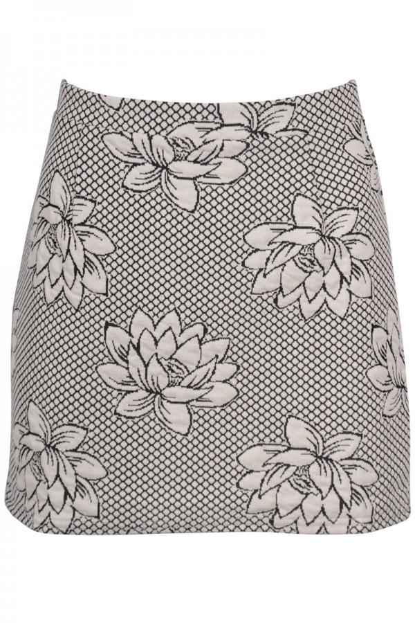 TFNC Dyla Floral Mini Skirt