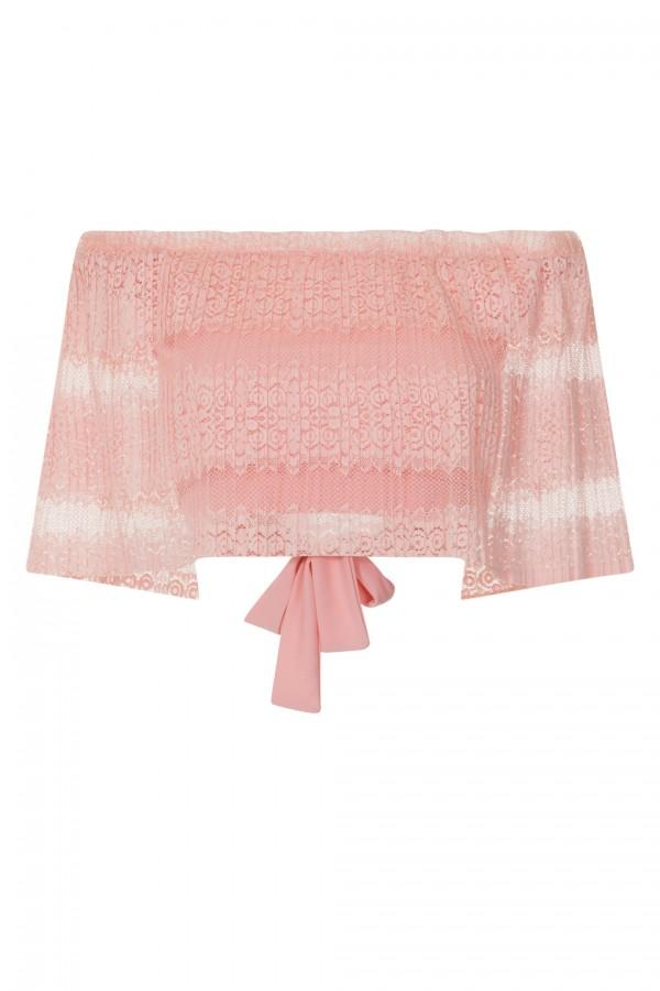 TFNC Gabbie Pink Crop Top