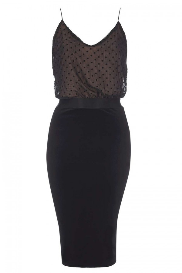 TFNC Alia Black Cami Dress