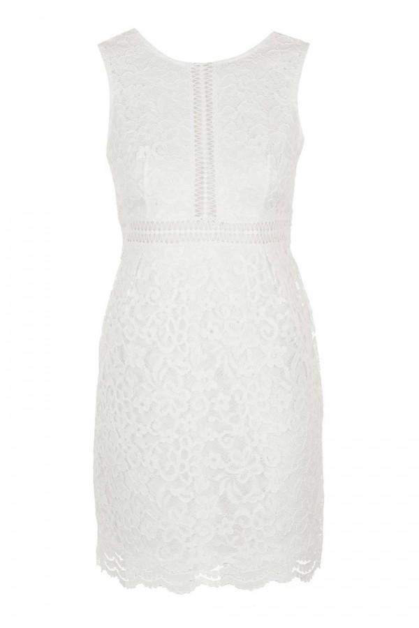 TFNC Alexia White Dress