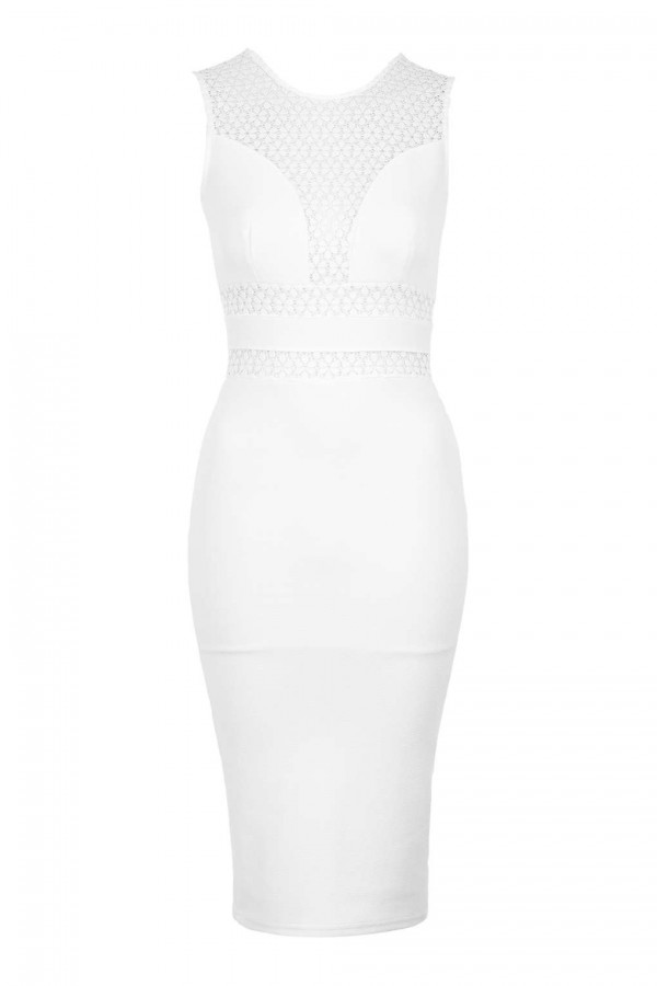 TFNC Alyna White Bodycon Dress