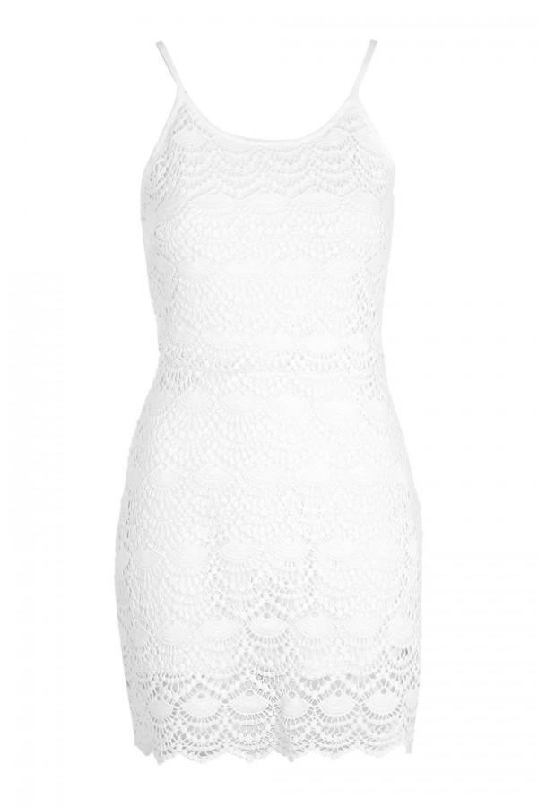 TFNC Goldie White Dress