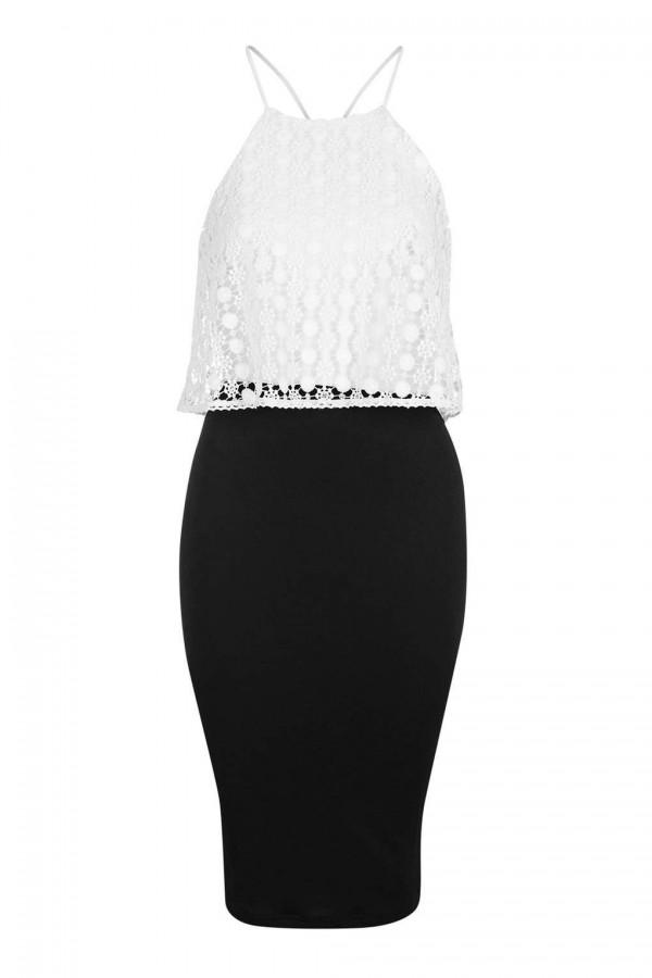 TFNC Amia Black Cami Dress