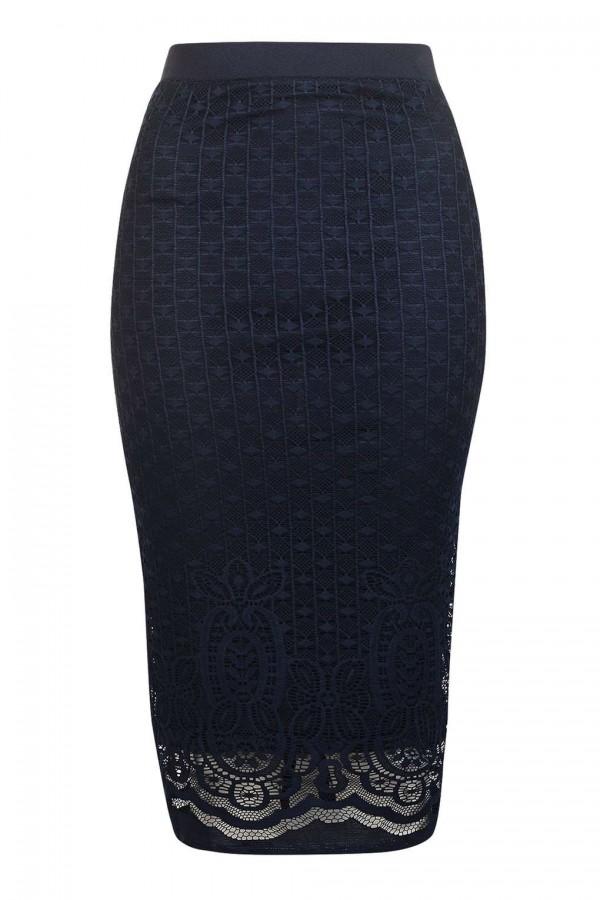 TFNC Lee Lee Navy Skirt