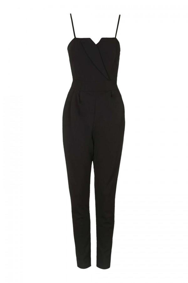 WalG Tailored Detail Black Jumpsuit