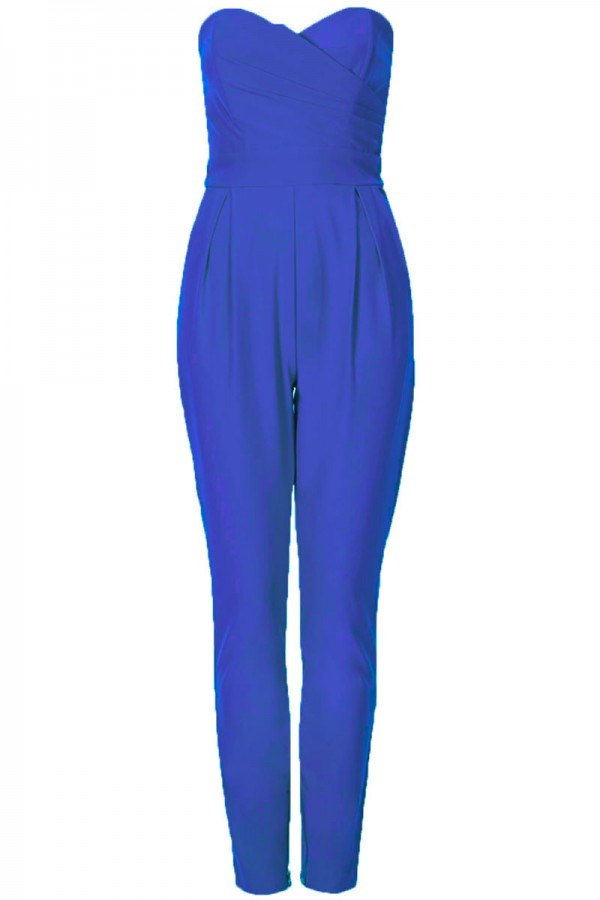 TFNC Staley Blue Bandeau Jumpsuit