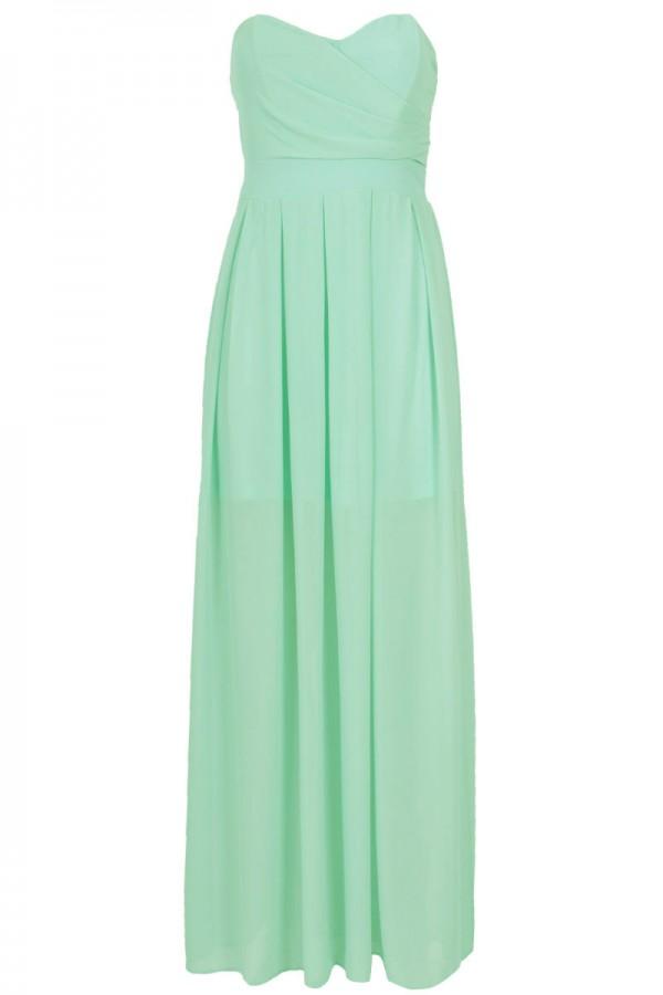 TFNC Elida Green Chiffon Maxi Dress