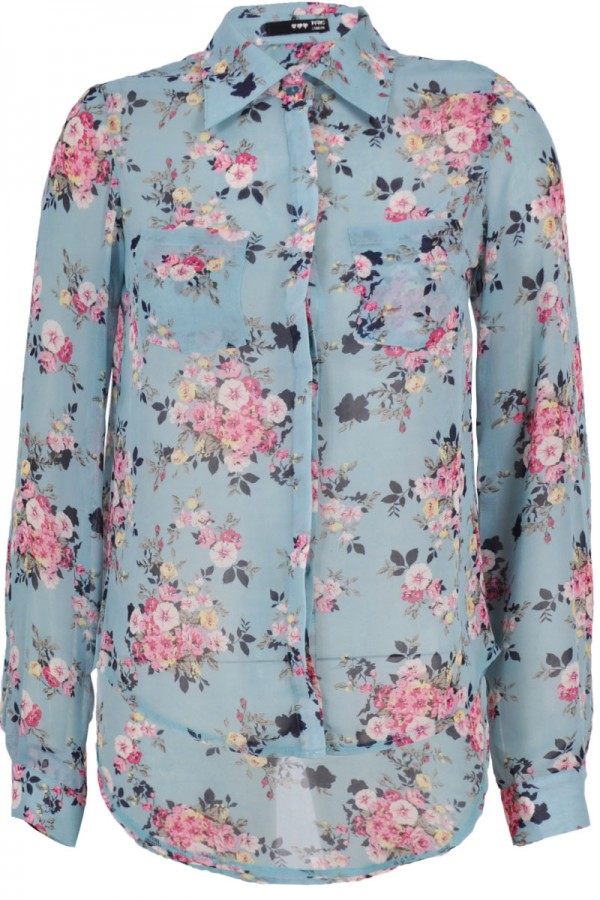 TFNC Etty Summer Floral Print Blouse