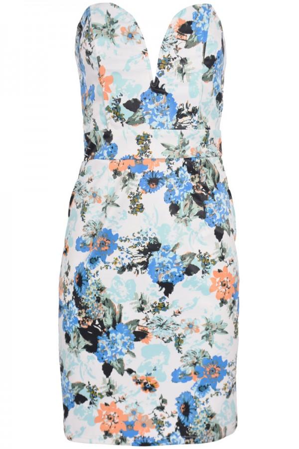 TFNC Geri Halo Floral Bodycon Dress