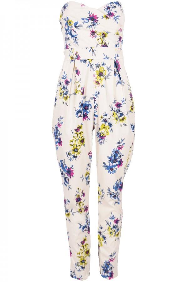 TFNC Staley Floral Bandeau Jumpsuit