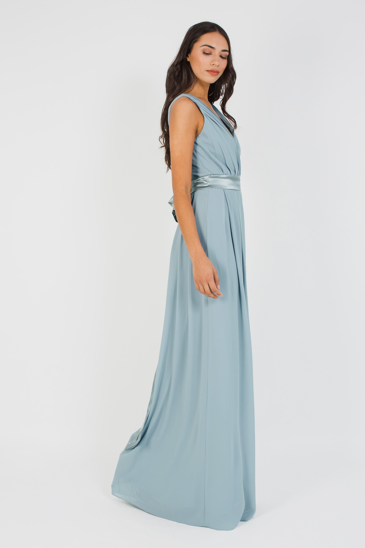 TFNC KILY GREY BLUE MAXI DRESS   TFNC PARTY DRESSES