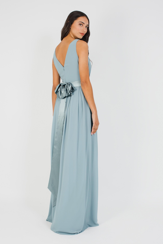 TFNC KILY GREY BLUE MAXI DRESS | TFNC PARTY DRESSES