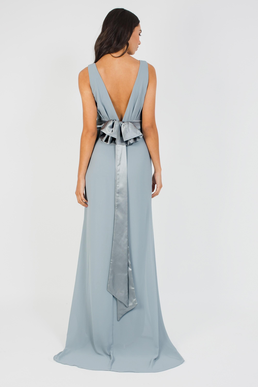 Tfnc Halannah Grey Blue Maxi Dress Tfnc Party Dresses