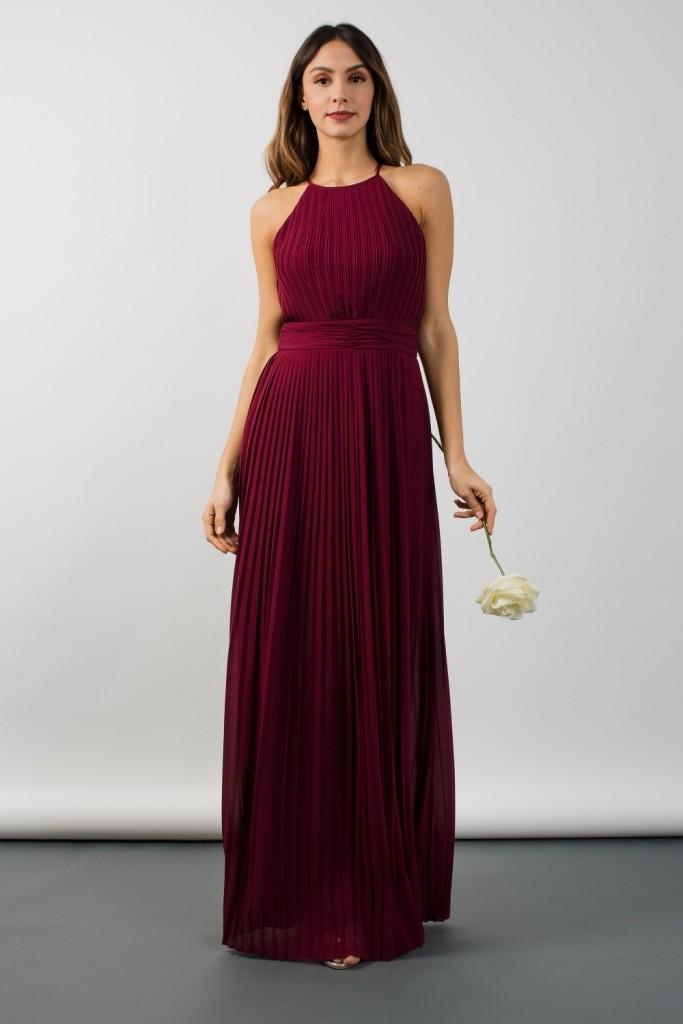 Tfnc Serene Burgundy Maxi Dress Tfnc Party Dresses