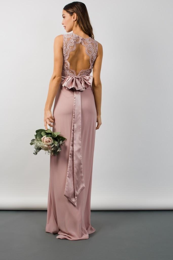 Tfnc Halannah Lace Sleeveless Pale Mauve Maxi Dress Tfnc