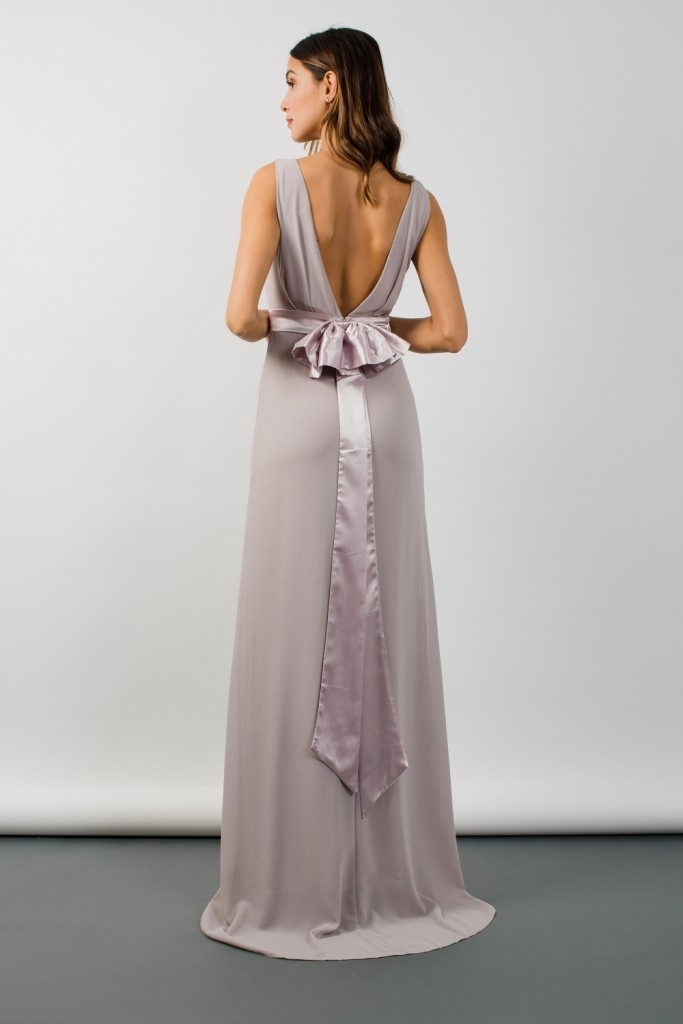 Tfnc Halannah Grey Maxi Dress Tfnc Party Dresses