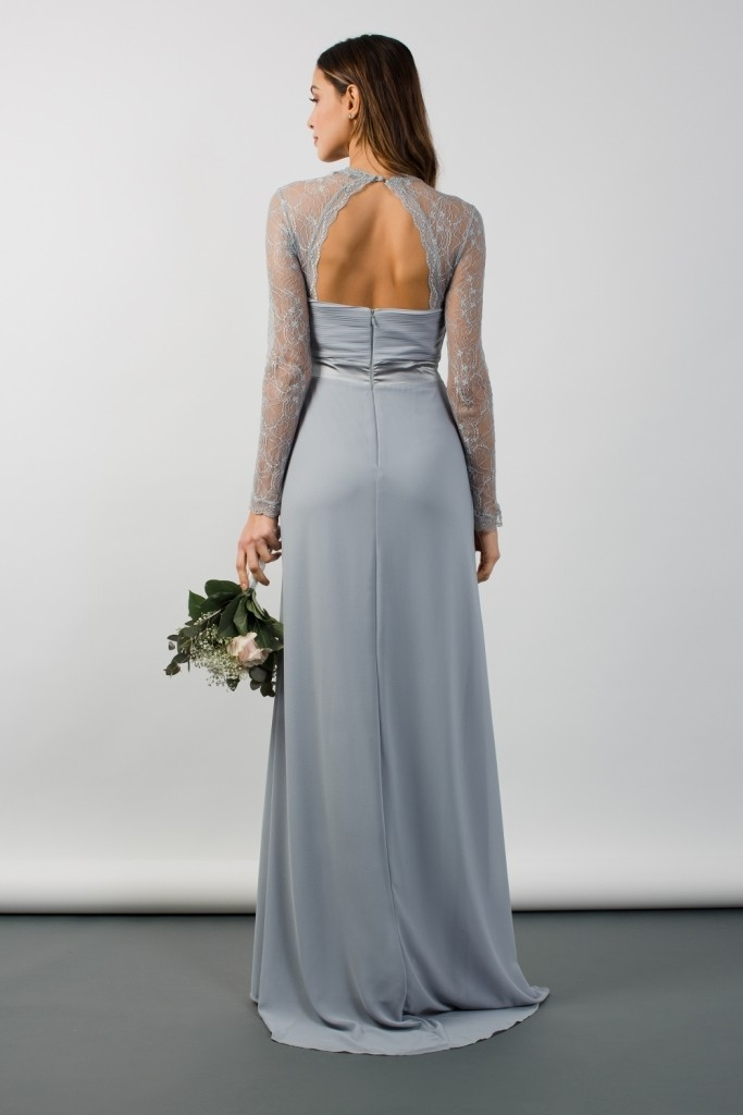 Tfnc Cimmaron Grey Blue Maxi Dress Tfnc Party Dresses