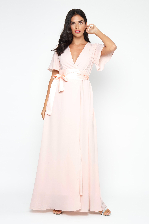 1f8ac8520 TFNC OMARIA PEACH BLUSH MAXI DRESS | TFNC PARTY DRESSES
