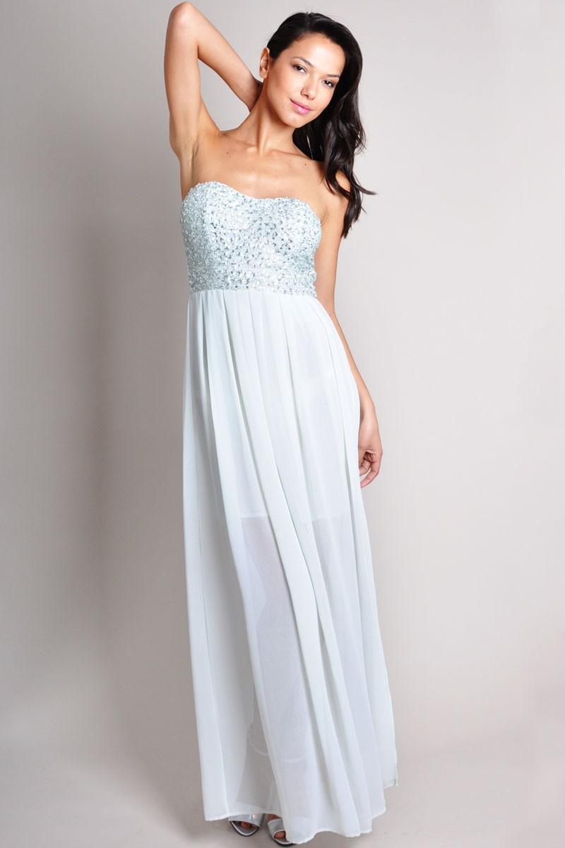 Sequin Bandeau Dress