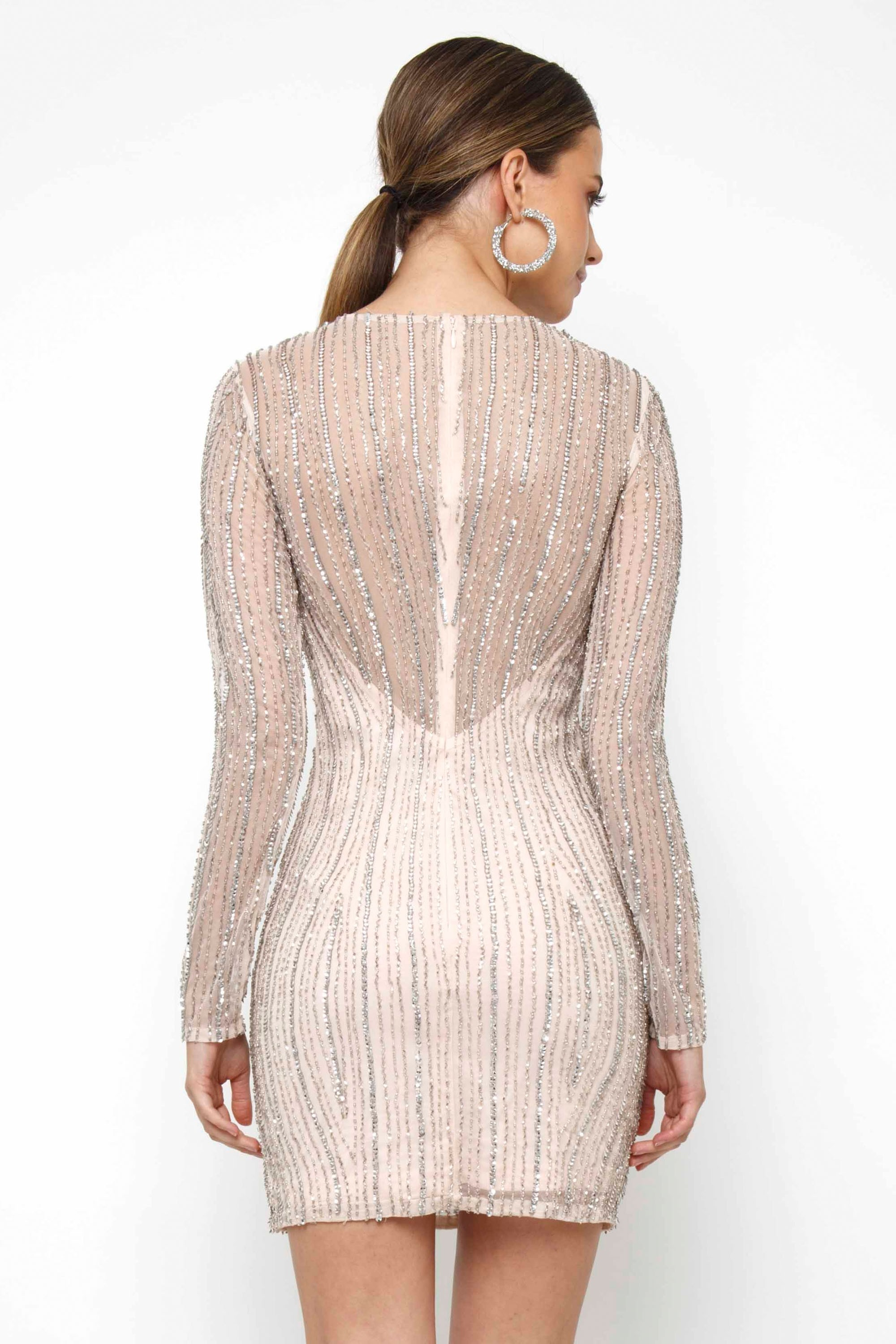 lace amp beads molly cream embellished mini dress party