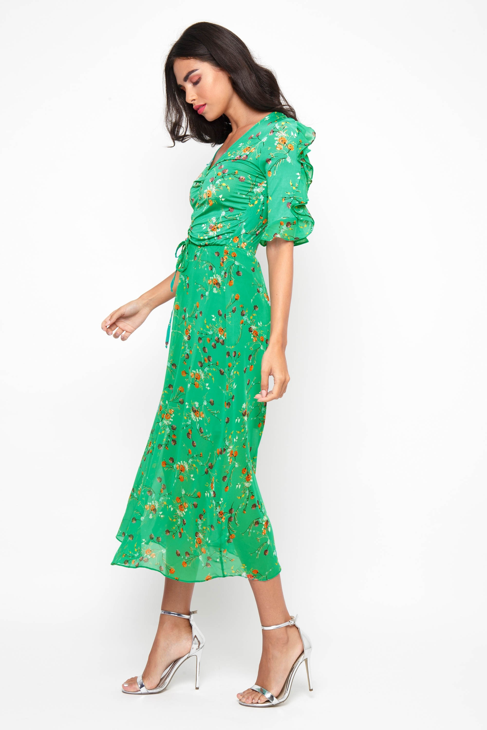 Tfnc Indira Green Midi Dress Tfnc Party Dresses