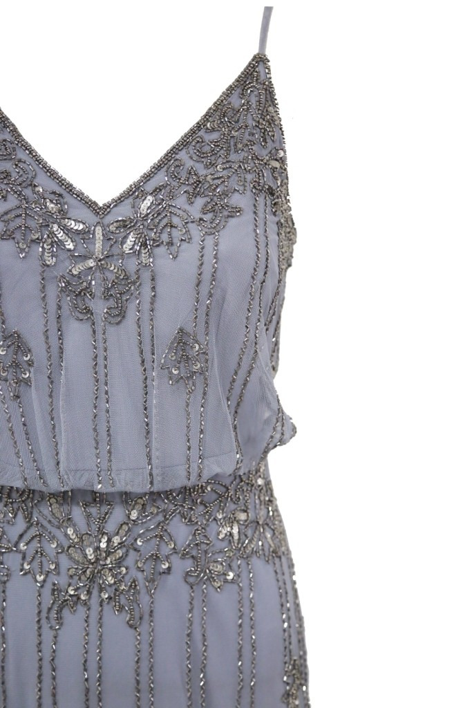Lace Amp Beads Keeva Grey Maxi Dress Lace Amp Beads Party Dress