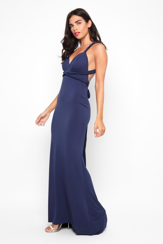 Tfnc Multi Way Navy Maxi Dress Tfnc Party Dresses