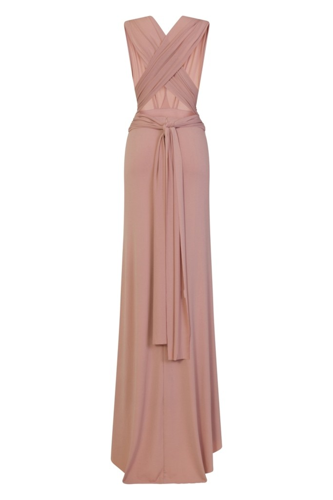 Tfnc Multi Way Mauve Maxi Dress Tfnc Party Dresses