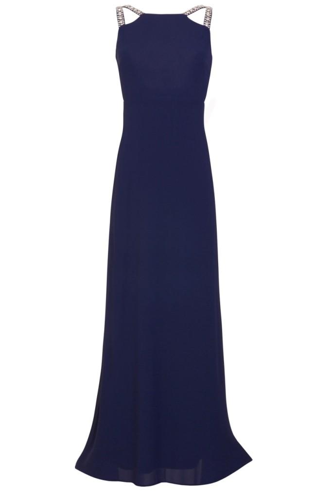 Tfnc riva navy maxi embellished dress tfnc party dresses for Navy maxi dresses for weddings