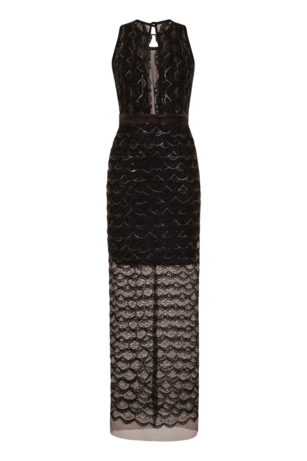 Tfnc maxi dress with fishtail and lace insert dress