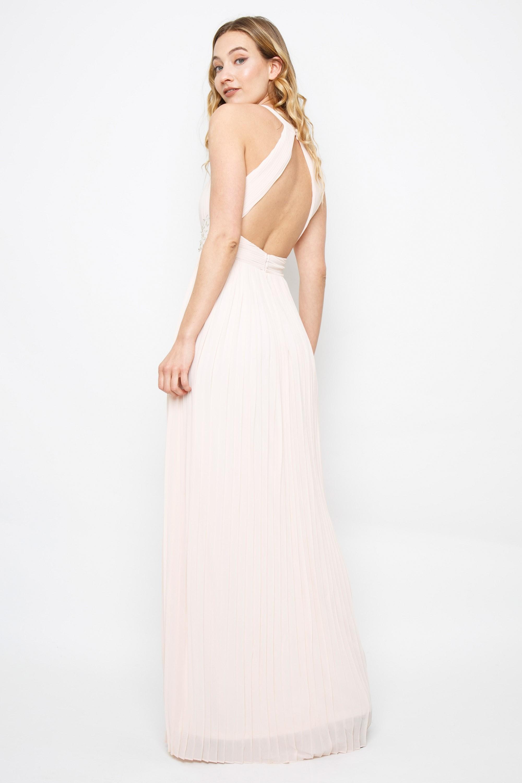 Tfnc Adora Nude Maxi Dress Tfnc Party Dresses